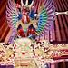 Bali 2015, Pura Puseh Temple Batuan, temple ceiling painted garuda WM