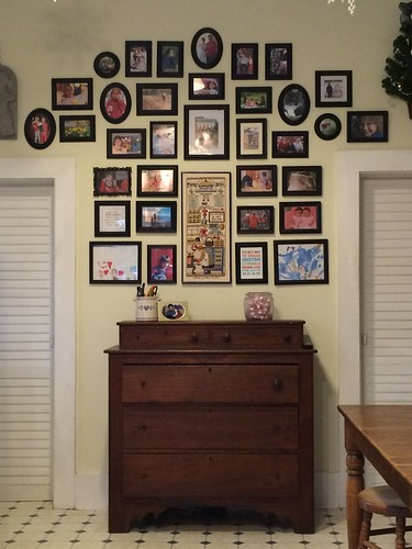 Kitchen photo wall