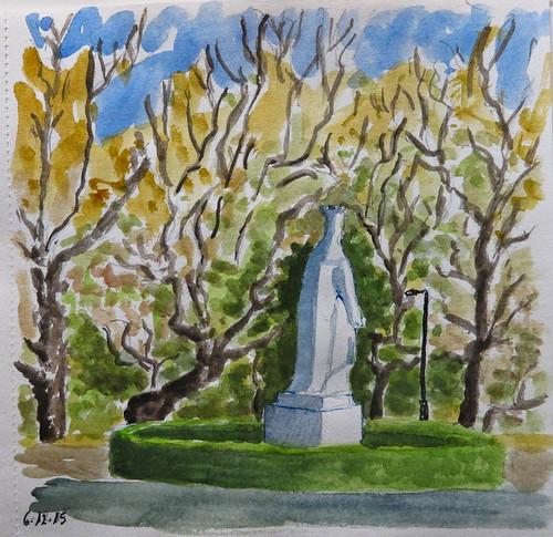 Isabel La Católica en su Parque. Gijon (Asturias)