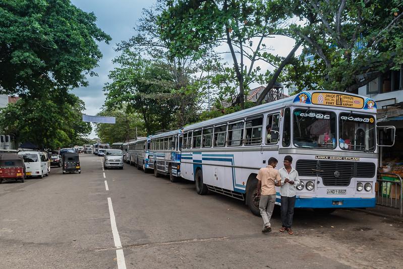 Bus fahren Sri Lanka