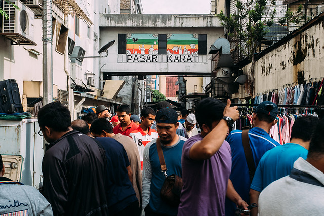 The center of Pasar Karat (flea market)