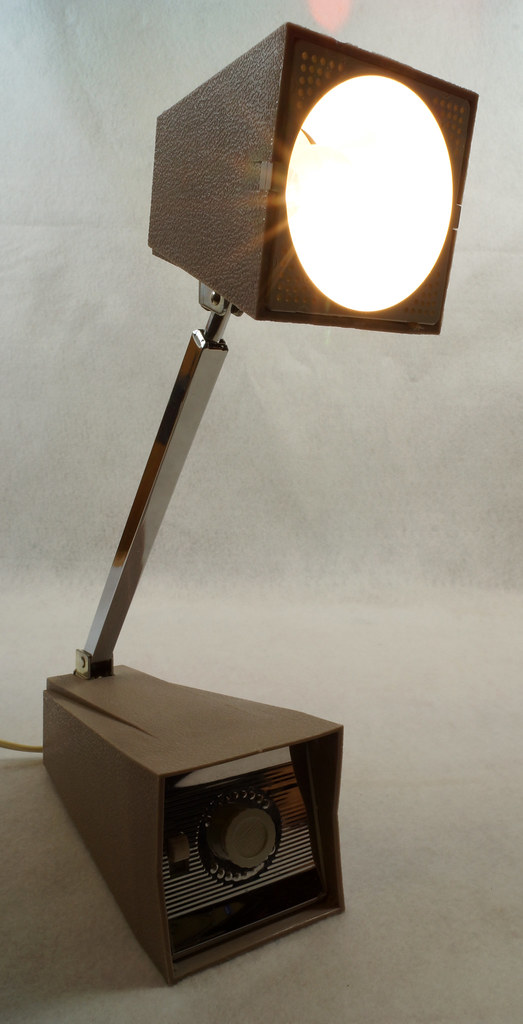 RD14517 Vintage Eagle Dial A Lite Mid Century Modern Telescoping Light Lamp Atomic Age DSC06038