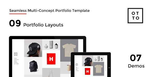 OTTO – Seamless Multi-Concept Portfolio Template