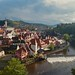 View of Česky Krumlov and Vltava River from the Castle by smilla4