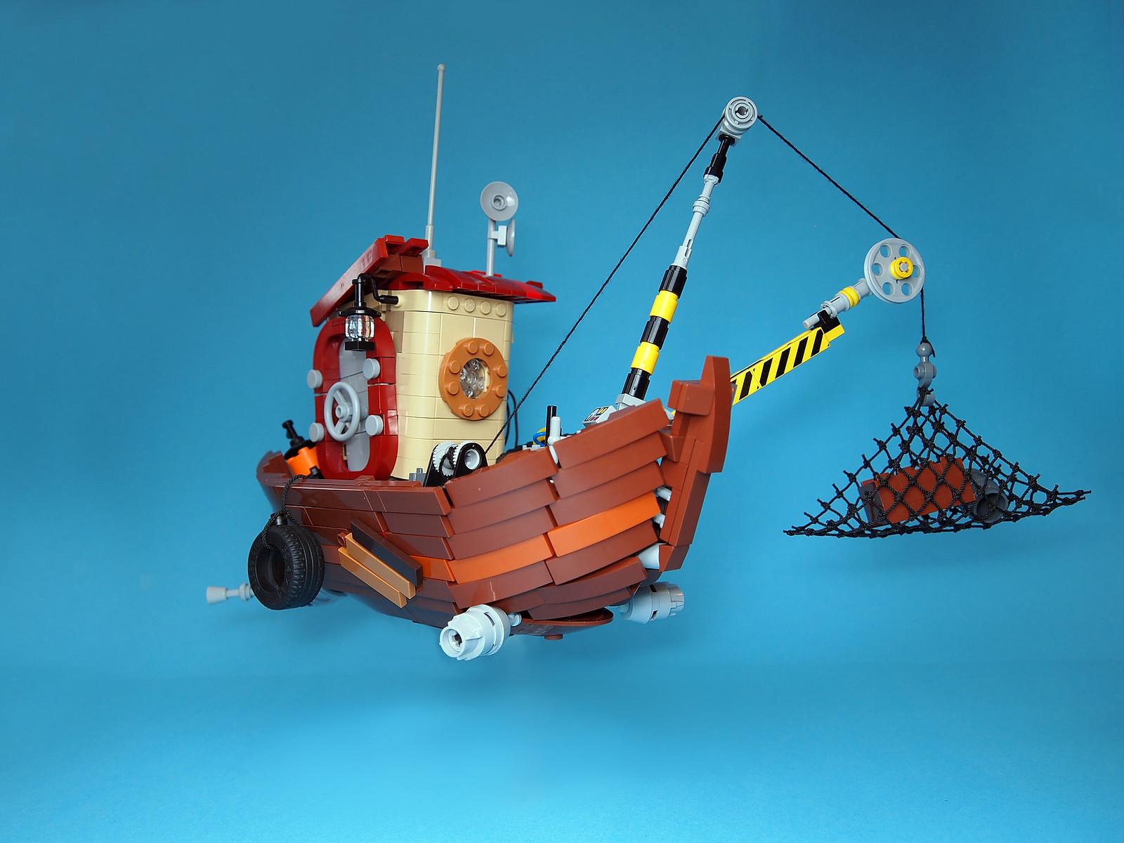 lego boat moc