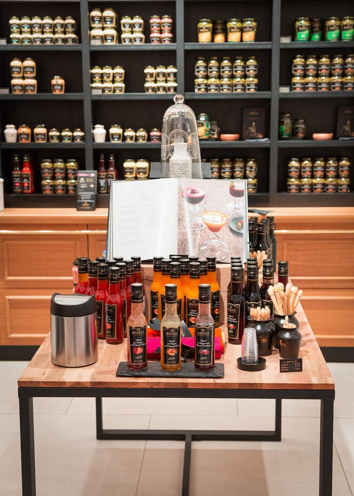 Maille Fruit Vinegars display