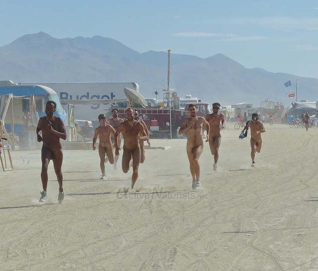 naturist run camp Gymnasium 0001 Burning Man, Black Rock City, NV, USA