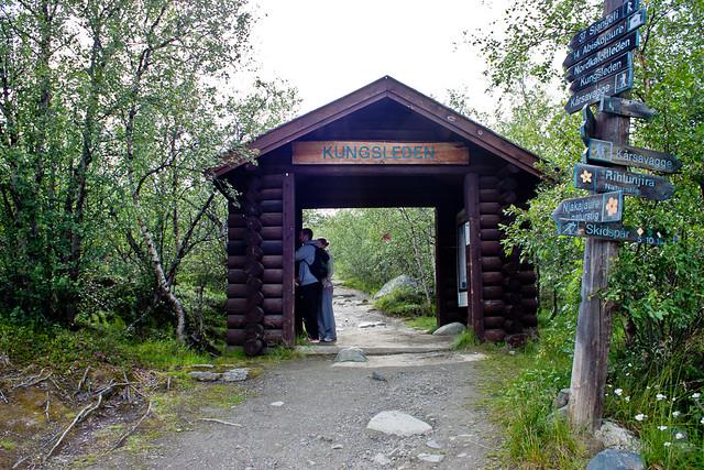 Indgangen til Kungsleden