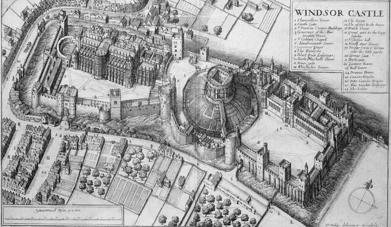 Windsor Castle in 1658, by Wenceslaus Hollar