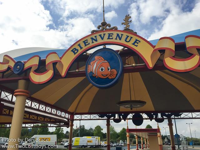 Arriving at Disneyland Paris