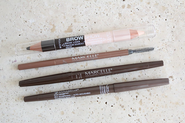 Marcelle and Annabelle fall 2015 eyebrow pencil reviews
