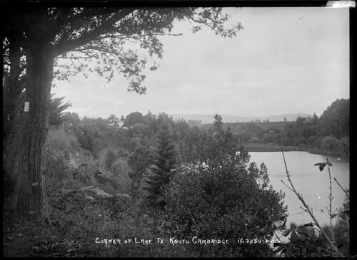 Corner of Lake Te Koutu in the centre of Cambridge...