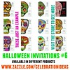 Halloween Invitations 6 by Juliana RW