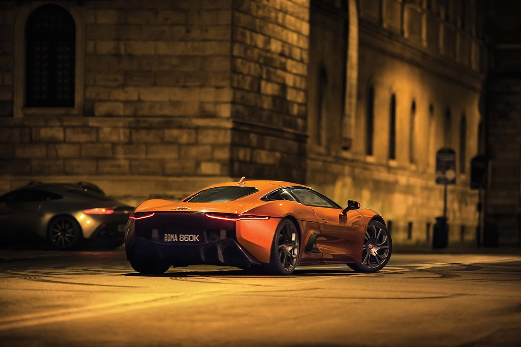 Jaguar Stunt Vehicle C-X75 Chase Scene: James Bond SPECTRE