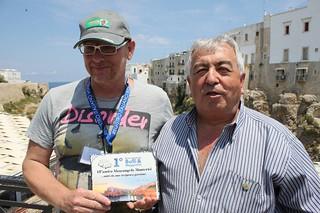 Rutigliano-A destra, Pietro Guglielmi accanto a Maurangelo Monterisi del Club Maggiolini