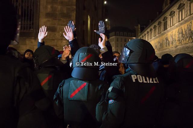 1 Jahr Pegida Dresden 19. Oktober 2015