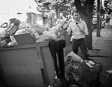 coleta de lixo tv