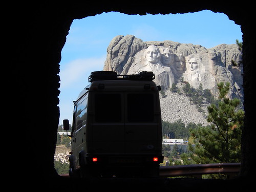 Custer State Park - Mount Rushmore vanuit tunnel