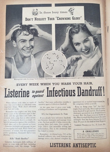 Listerine to guard against Infection Dandruff!