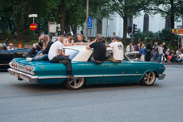 American Car parade in Stockholm