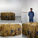 Dayana Ruiz; Human Summary; half-ton compressed cardboard; 2015; 48x60x24 - Art of the State 2016 at the Arvada Center for the Arts and Humanities