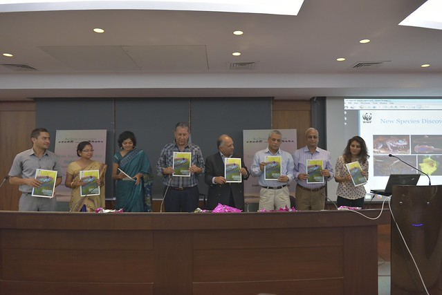 "Launching of the report titled ""Hidden Himalayas: Asia's Wonderland - New species discoveries in the Eastern Himalayas, Volume II, 2009- 2014"". Ravi Singh, CEO WWF- India"