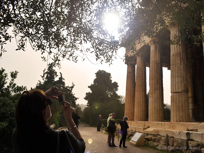 Una de las fachadas del Templo de Hefesto