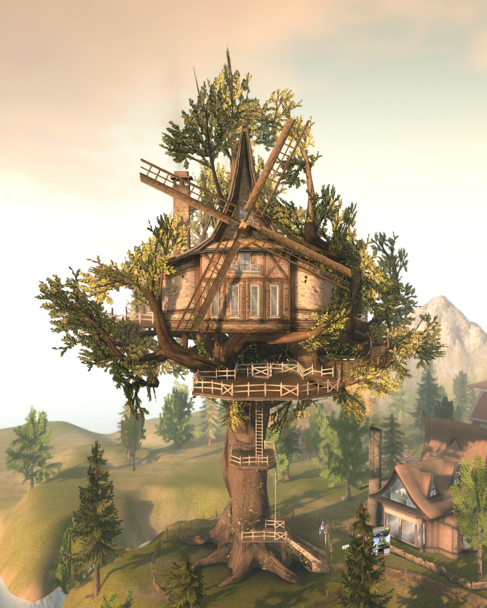 The tree house and windmill at LAQ