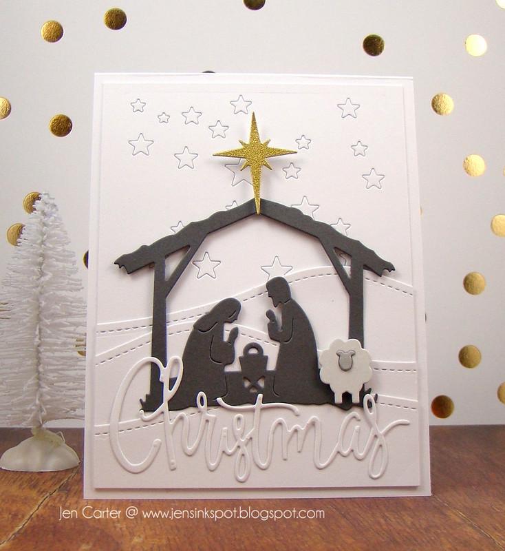 Jen Carter White Nativity Front