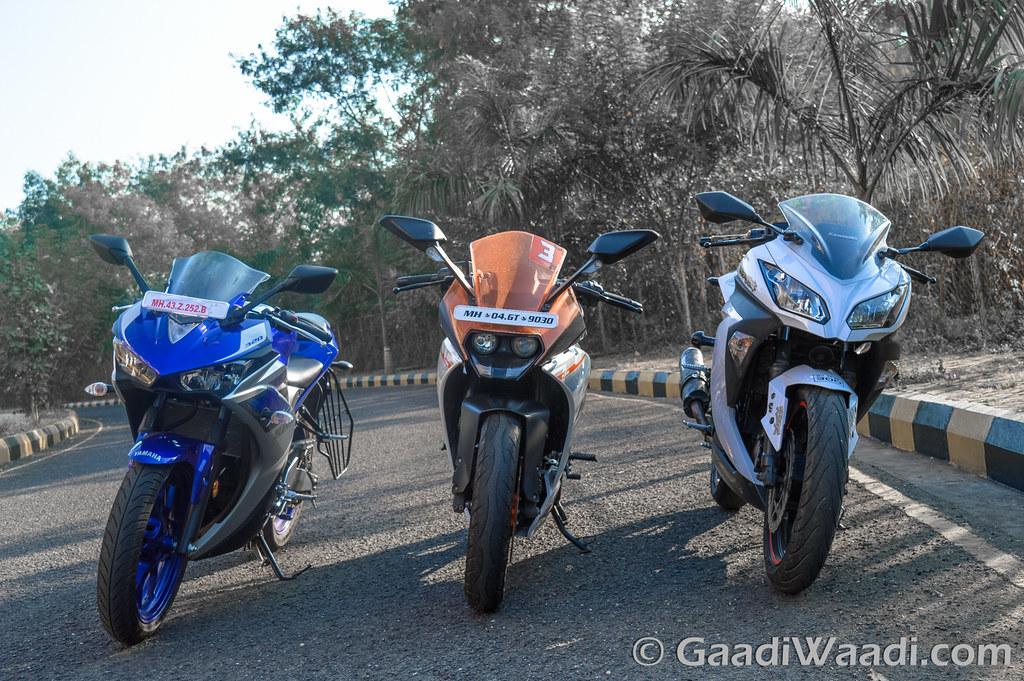 Yamaha R3 vs KTM RC390 vs Kawasaki Ninja300-8