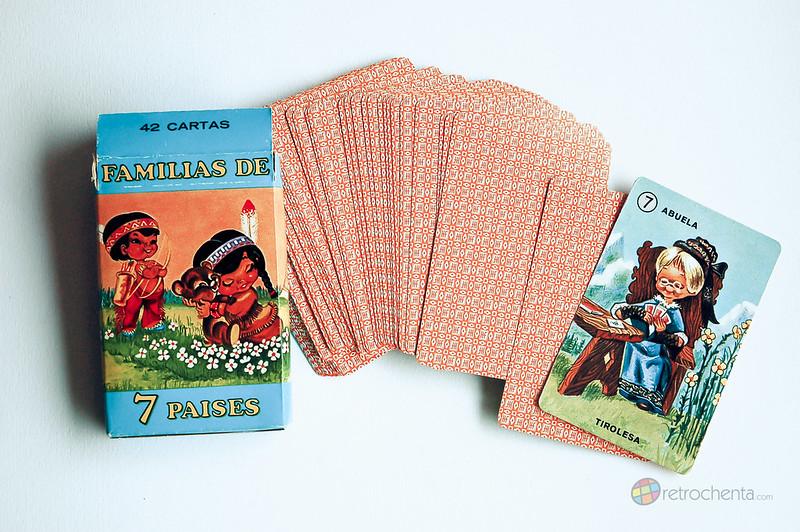 Baraja Familias de los 7 Países - cuarta edición - cartas