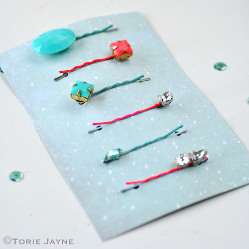 handmade Jewelled bobby pins