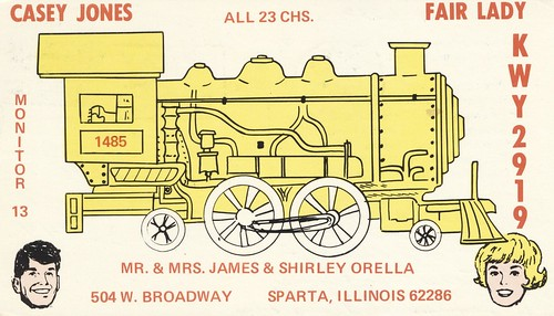 qsl cb cbradio vintage train cbc illinois