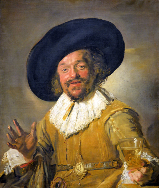 A Militiaman Holding a Berkemeyer, Known as the 'Merry Drinker', Frans Hals (c. 1582-1666)