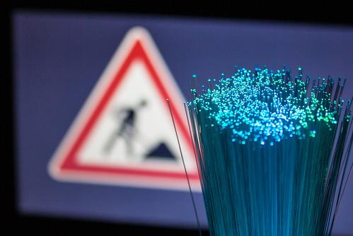 Internet Glasfaser Wartungsarbeiten