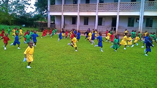 Children of St Louis Nursery and Primary School, Owo, enjoying some free time