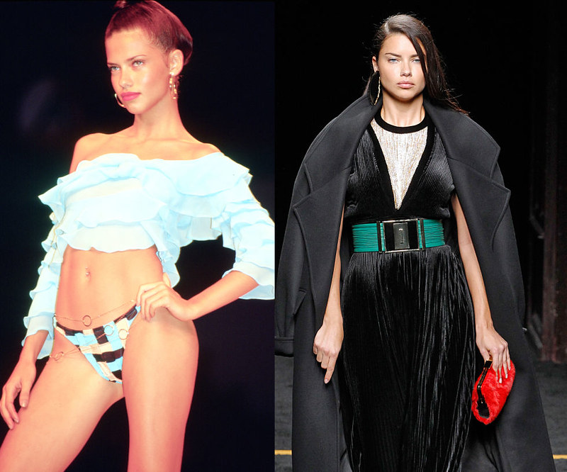 ADRIANA LIMA - Walking the Tommy Hilfiger Spring/Summer 2006 show in 2005, and on the Victoria's Secret runway in 2014.
