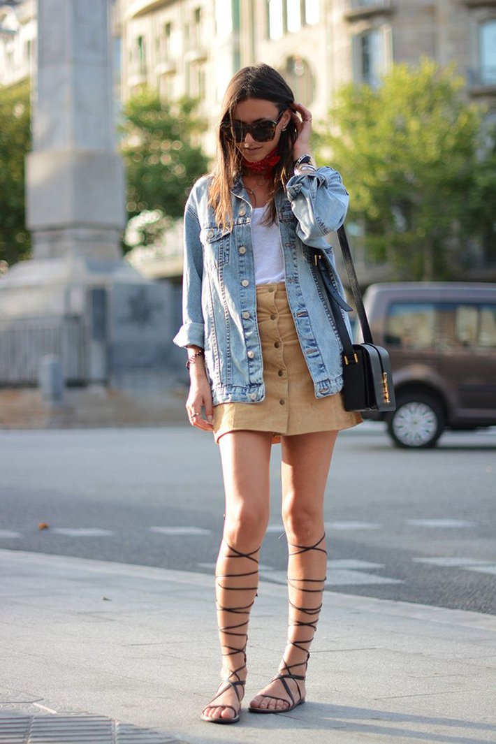How to Wear Suede Skirt08