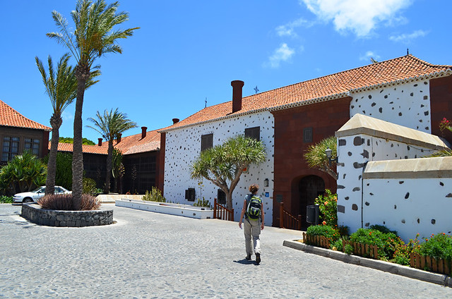 Arriving at the Parador, San Sebastian, La Gomera