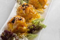 Fried King Prawns in Mango Sauce
