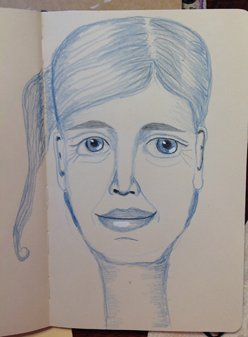 Face22-left hand drawing