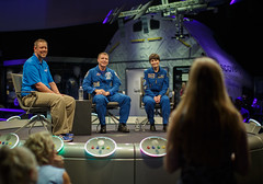 Astronauts Virts and Cristoforetti at NASM (NHQ201509170007)