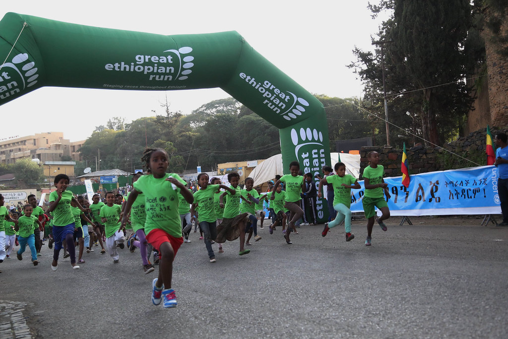 Children race held on the event Girl's Empowerment Regional race