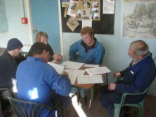030612 Lakeland Helicopters, Murupara staff updating assessment schedules