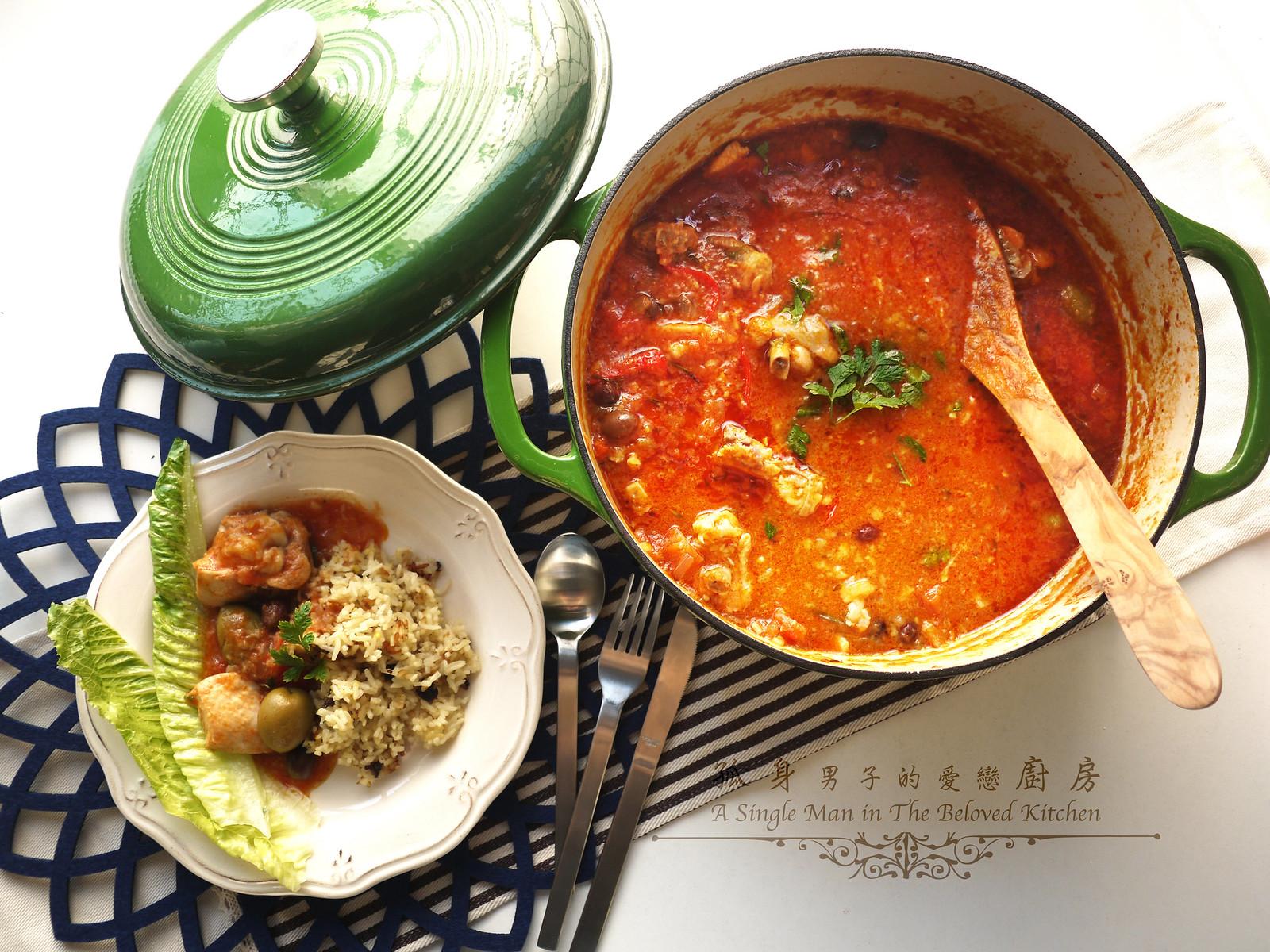 孤身廚房-蕃茄橄欖燴雞肉佐番紅花香米37