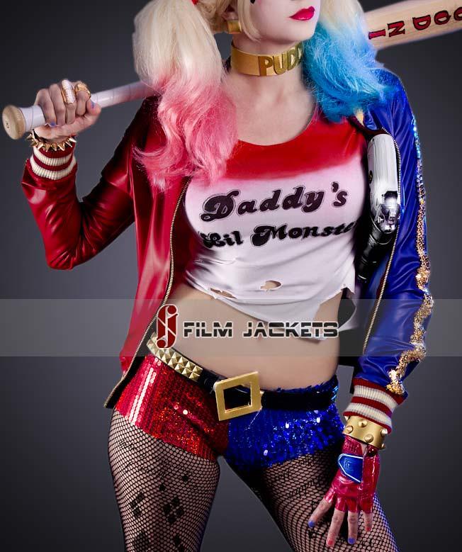 極度瘋狂的時尚!《自殺突擊隊》小丑女 Harley Quinn 外套