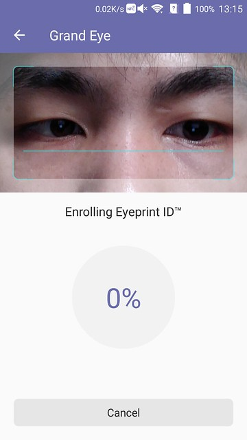 ZTE Axon Elite - Registering Eyeprint
