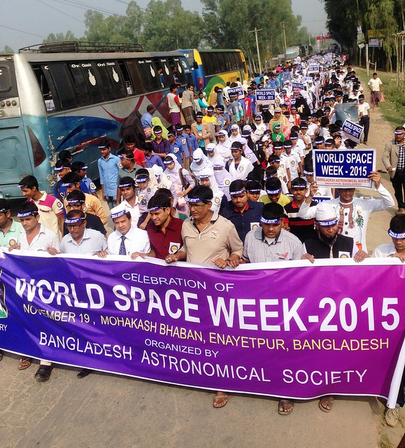 1.Spectacular Space Rally on the Street of Enayetpur with Banner and Posters of WSW-2015.