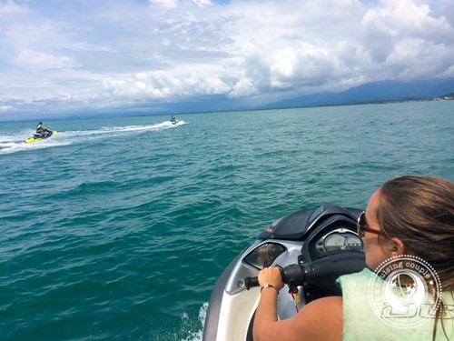 Jet skiing in the Ocean in Costa Rica