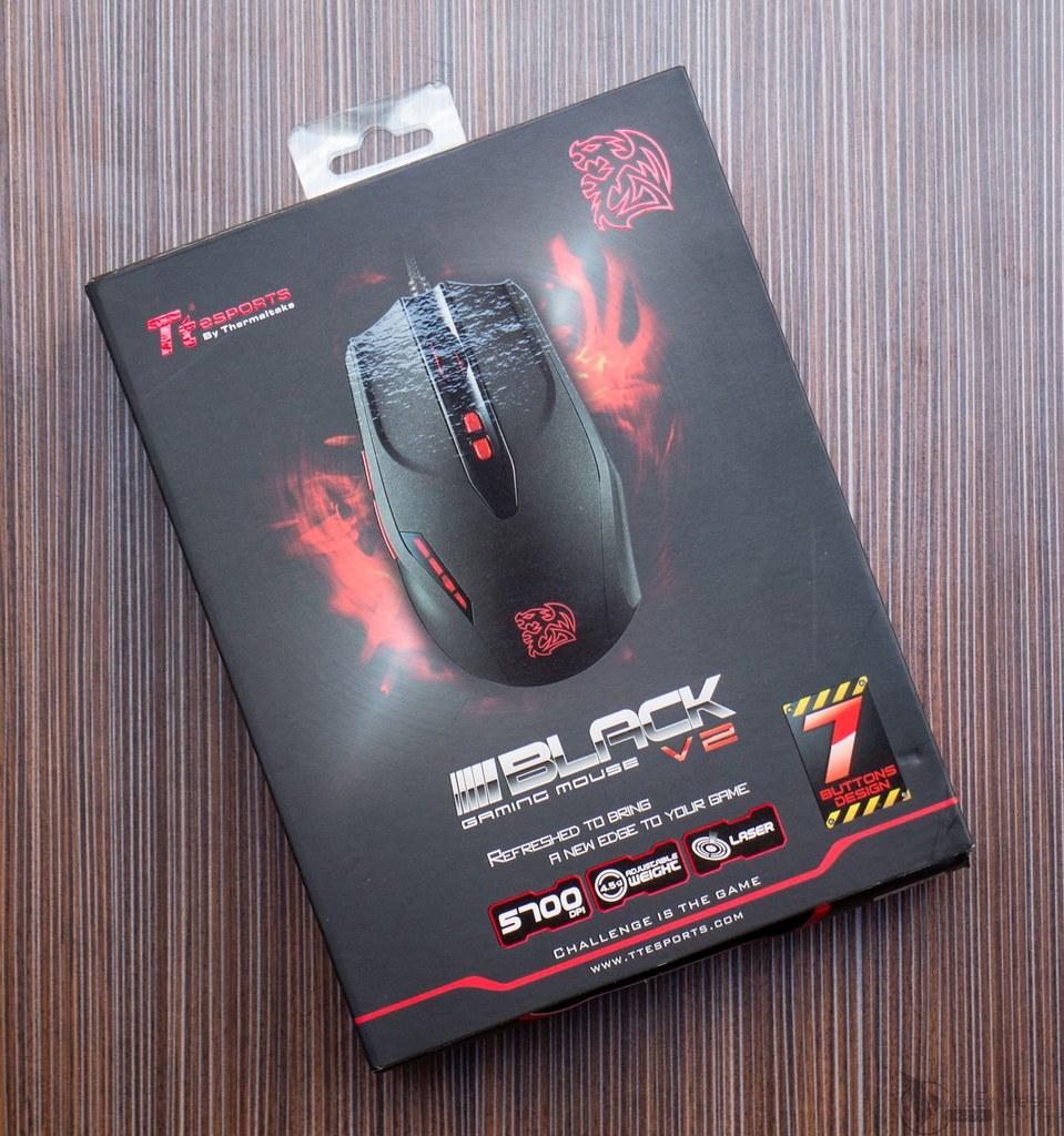 Mouse Tt eSPORTS Black V2 Laser